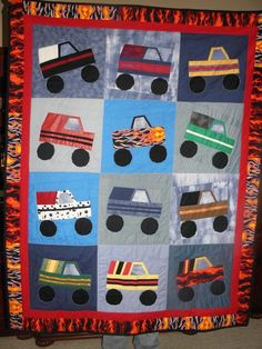 Quilting: monster truck quilt