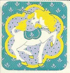 Vintage 80's Illuminations Unicorn Sticker. $2.75, via Etsy.