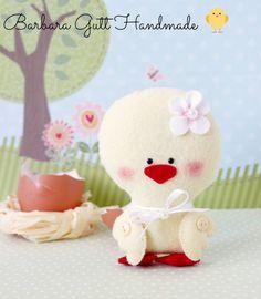 Sweet Felt Duck Easter/Barbara Handmade..