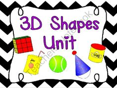 3D Shapes Unit from teacherof20 on TeachersNotebook.com -  (48 pages)  - This resource includes 45+ pages of 3D shape games and activities to reinforce the concept.