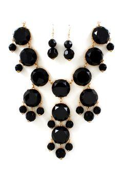 Ebony Bubble Necklace Set   Emma Stine Jewelry Necklaces