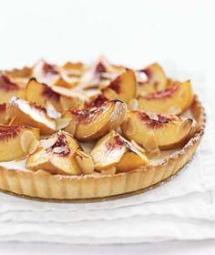 ++ peach & sour cream tart
