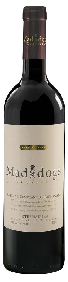 "Enjoyed this ""Mad Dogs & Englishmen"" Spanish wine last night. A big (dry) red that blends Shiraz, Tempranillo, and Carignan."