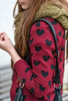Heart Sweater and Scarf
