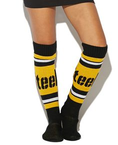 NFL Steelers Knee Slipper Socks