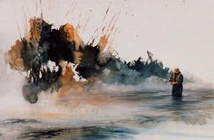 Morten Solberg watercolor is alive, fresh and flows---perfect for a fly fishing piece