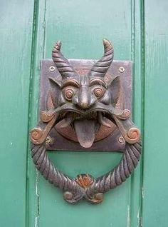 Demon door knocker