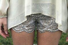 Scallop edge glitter shorts, in my next life!!!