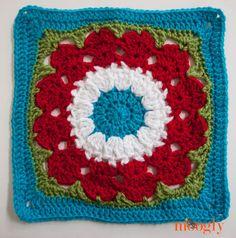 Cocoa Puff - Block #20 in the Moogly Afghan CAL 2014! #crochet #CAL