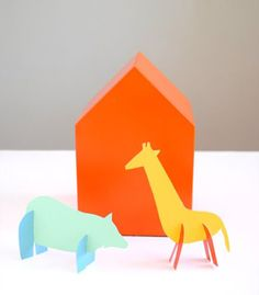DIY Paint Chip Animal Friends by handmadecharlotte #DIY #Animals #Paint_Chip #Paper_Crafts
