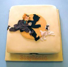 tintin gateaux • Tintin cake • Tintin birthday cake