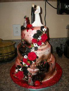 Zombie wedding cake!!!
