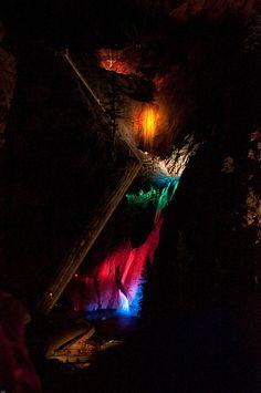 Seven Falls Colorado at night!! a must see- BEAUTIFUL