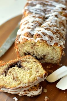 Cinnamon Swirl Bread with Vanilla Glaze