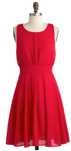 Affordable red bridesmaid dress - Quintessence of Taste Dress by Modcloth, $49.99