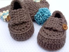 Crocheted Baby Boy Shoes