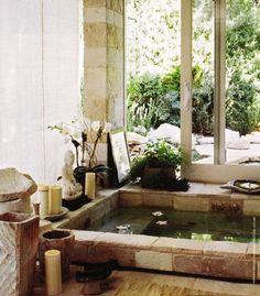zen decor cool hot tub idea