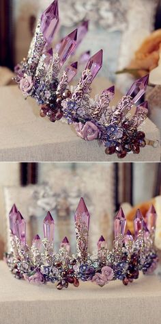 Spetacular Baroque Amethyst Bridal Crown EWAHP051 from Elegant Wedding Invites #elegantbridaljewelry
