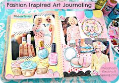 pastels, fashion, journal pages, art journals, holidays, pink, beauty, blog, meadham kirchhoff