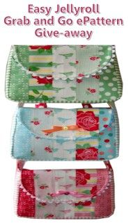 Easy Jellyroll Grab 'n Go Bag PDF Sewing Pattern