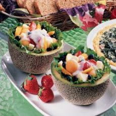 Fruit-Filled Melons Recipe
