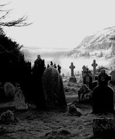 celtic crosses, ireland, cemetari, tombston, dark, irish graveyard, place, haunt beauti, old cemeteries