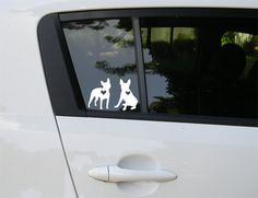 Boston Terrier car decal. $6.00, via Etsy.
