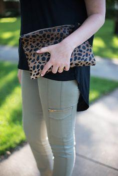 James Jeans + Clare Vivier clutch