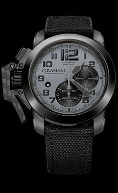 Graham Chronofighter Oversize New Generation..Grey on Black is sick