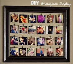 DIY Instagram display