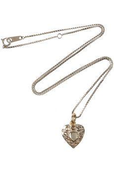 georgian silver diamond necklace