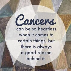 Cancer zodiac sign ♋ (★ it's a defense mechanism...we are extremely sensitive, so we have to filter the things we allow to affect us...or else we'd feel everything too much)