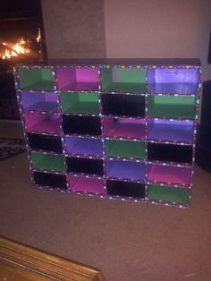 Cubbies I made from boxes, paint, and duct tape. I'll be using these as mailboxes in my classroom.