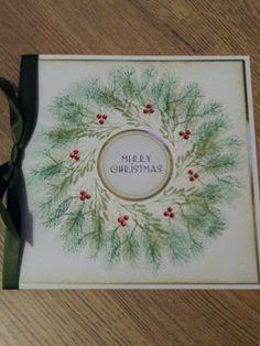 Christmas card using Inkadinkado stamping gear