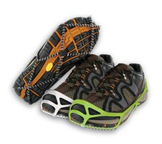 If you live in a place that gets frequent snow or ice accumulation, consider adding some extra traction to your regular running or walking shoes with Yaktrax. This simple device is designed to slip easily over your shoes and give you extra stability on icy terrain.| via @SparkPeople #winter #workout #run #walk