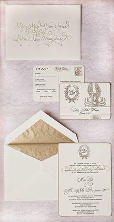 Wedding Invitations - Wedding on SMP: http://www.stylemepretty.com/2012/06/11/backyard-new-hampshire-wedding-by-jana-williams-photography   Jana Williams Photography   Invitations by Invited Design Studio