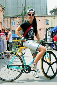 Girls and Bikes - Ladies with their Bianchi's