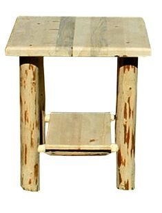 Rustic Nightstand with Shelf