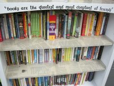 Do you include encouraging words or phrases on your  library shelves?