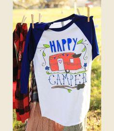 haPPY camper RAglan {junk gypsy co}