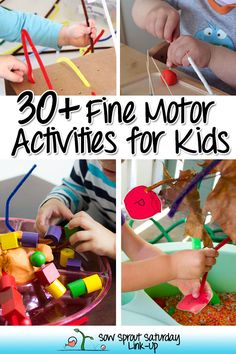 30 + Fine Motor Activities for Kids from Sow Sprout Play