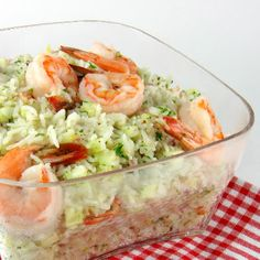 Shrimp and Rice Salad with Cucumbers