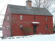 Another Saltbox: Sgt John Deming's house Wethersfield, Connecticut 1660 red hous, connecticut, barnegat saltbox, saltbox idea, salt box, coloni style, hous wethersfield, dream houses, saltbox houses