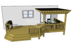 decks and porches....like this...possible to BBQ and still be out of the sun