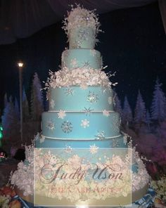 This cake would be great for a Winter Wonderland theme wedding