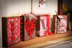 Love Blocks with buttons ~ love love love!