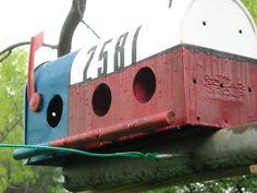bird house made from an old mailbox