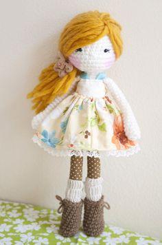 Handmade Crochet Dolls by LinaMarieDolls on Etsy  ----  Follow me on Instagram: linamariedolls  ----  rag doll // crochet doll // plush doll // amigurumi // handmade doll // yarn // diy doll