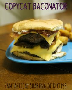 Baconator Burger {Copycat} | It doesnt get better than a burger loaded with bacon #recipe