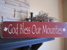 God Bless Our Mounties Primitive Rustic by PrimitiveExpressions, $20.00